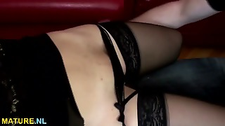 Busty Mature Gets Ass Fucked And Creampied