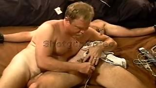 Cbt I Tied My Hairy Sub Down For Electro Stim Session Where I Make Him Cum.