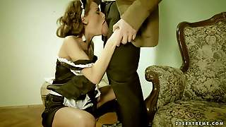 Sophie Lynx Is One Obedient Maid In Sexy Uniform Gets