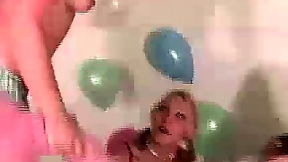 Real Amateurs Stripping Naked In Party Game