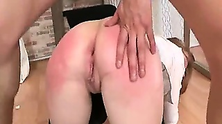 Punished Secretary With Dick In Bum