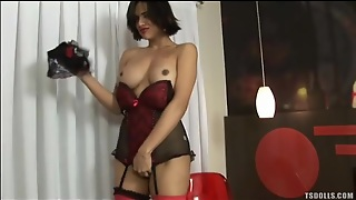 Tgirl Decked Out In Lingerie Is Sexy As Hell