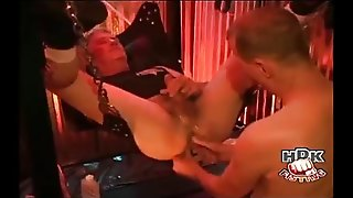 Big Daddy Cops A Bareback Fucking & Fisting At The Same Time