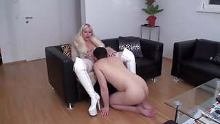 Femdom Sex, Pussylicking, Pussy Licking, Stockings Sex, Blondes, Misstress, Mistress, Dominating, Domination