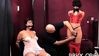 Girl In Slutty Outfit Gets Orgasams Whilst Being Bounded