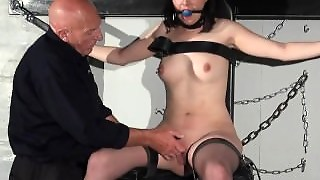 Gagged Slave Honesty Cabelleros Erotic Domination And Nipple Torture