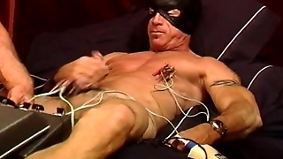 Cbt Muscle Stud Gets His Balls And Tits Juiced With Electro Stim