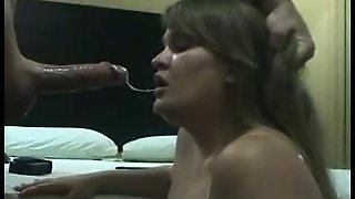 Bbw Gets Her Throat Cherry Popped