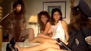 Kinky Vintage Sexy Lesbians Enjoy Pussy Eating Workout On The Bed