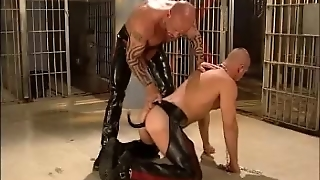Master And Leather Boy Slave