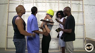 Black Guys Gangbang A White Girl In This Reality Video