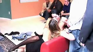 Blowjobs At Orgy Party