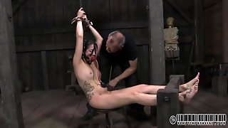 Naked Hailey Young Put In Bondage By A Kinky Girl