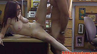 Cute Busty Teen Banged On Shop Security Cam