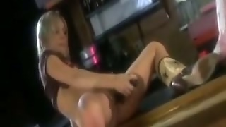 Cowgirls Lesbian Sex On A Table