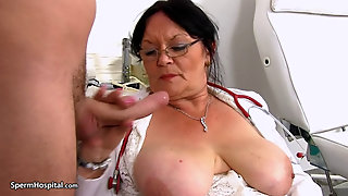 Mature Nurse Milking Her Patient