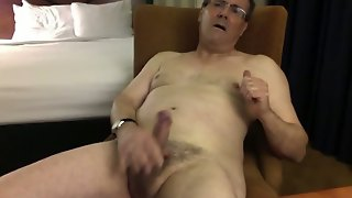 Stroking My Nipples, Showing Of My Cock, And A Cum Shot