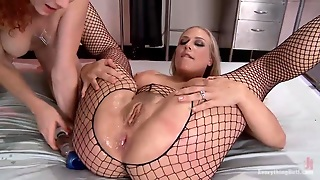 Crazy Lesbians Playing With Anal Dildo