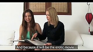Party Girls Get Interviewed In Casting