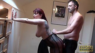 Redhead Woman In Pantyhose Is A Natural Cock Sucking Submissive