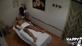 Allanah Massages This Guy And Makes Him A Blowjob