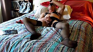 Stuffing His Ass And Throat With Toys Turns Him On
