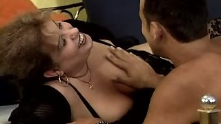 Nancy Decides To Try The Taste Of This Guy's Black Cock