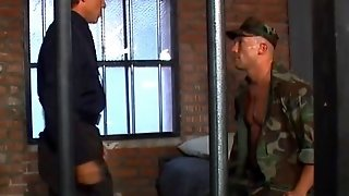 Military Bullies Fuck And Suck In The Detention House