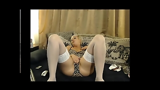 Sexy Blonde Houswife Playing. Kandra From Dates25.com