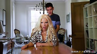 Brazzers Gorgeous Barbie Sins Gets Drilled By Jordis Massive Cock