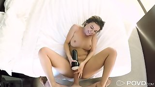Hot Teen Gives Pov Fleshlight Handjob Before Doggy Style Sex