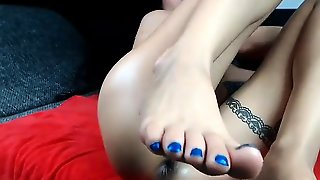 Foot Fetish Masturbation In Pickup Truck
