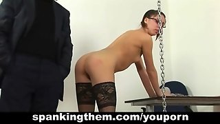 Hard Spanked Secretary