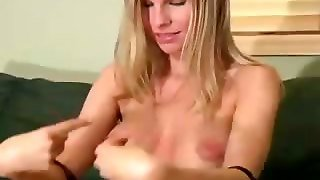 Blonde Jerkoff Instructor