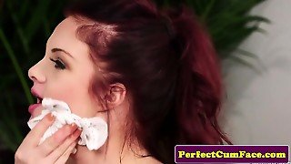 British Redhead Spunked On Face