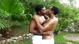 Muscle Guys Fuck In The Forest