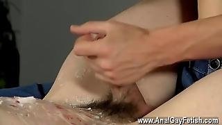 Gay Porn Wanked And Waxed To The Limit