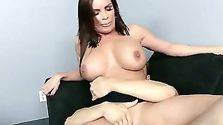 Milf, Sex At Work, Hardcore, Shaved Pussy, Brunette, Big Tits, Fake Tits, Hd
