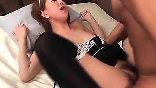 Jap Nympho Maid Pussy Banged Hardcore In Her Sexy Stockings