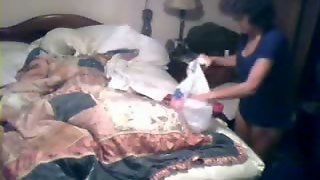 My Mom Masturbates Before Sleeping. Hidden Cam