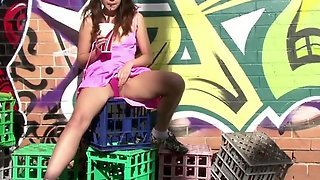 Girls Out West - Amateur Teen Touches Herself