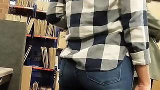 Candidate Sexy Ass At The Post Office In Tight Jeans.