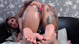 Amazing Perfect Butt Blonde Solo Anal Fingering