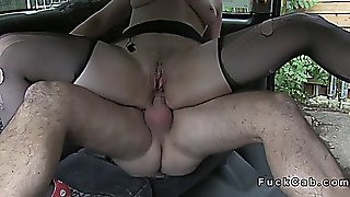 Natural British Amateur Deep Throats In Fake Taxi