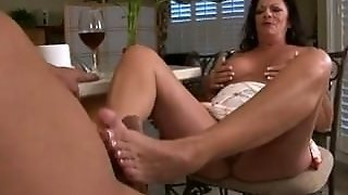 Mature Footjob (Huge Cumshot)