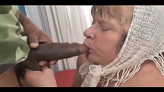 Cock Crazed Granny Gives Hot Blowjob To Her Black Lover