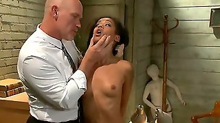 Sexy Skin Diamond Tries To Skip Town To Avoid A Large Debt With Two Shady Loan Sharks.  They Find Skin And Make Her Work Off The Money Through Rough Sex, Bondage And Domination