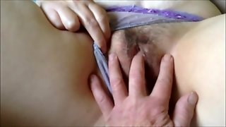 Fingering A Hairy Milf's Pussy
