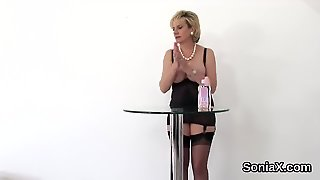 Adulterous British Mature Lady Sonia Showcases Her Heavy Jugs
