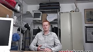 Ginger Dude Swallows And Rides Charcoal Salami In Office